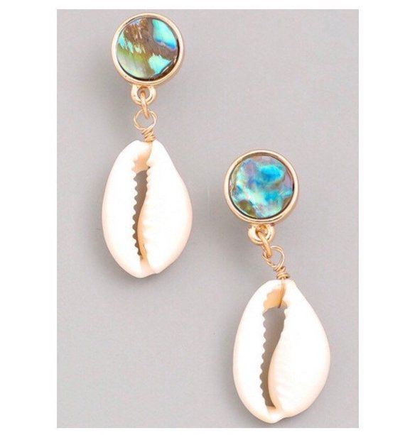 Super chic cowrie shell earrings - seashell - product images