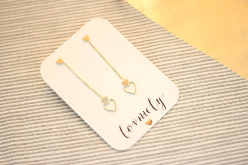 Long heart earrings - product images  of