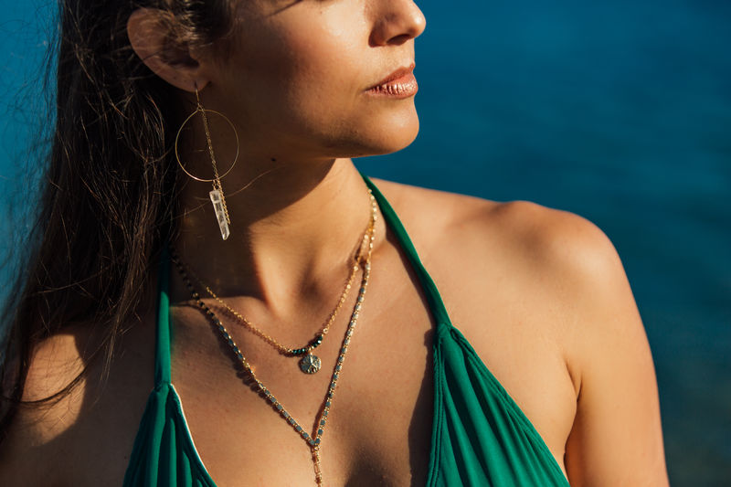Beach Vibes- Sand Dollar necklace  - product images  of