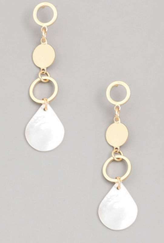 Teardrop shell earrings  - product images  of