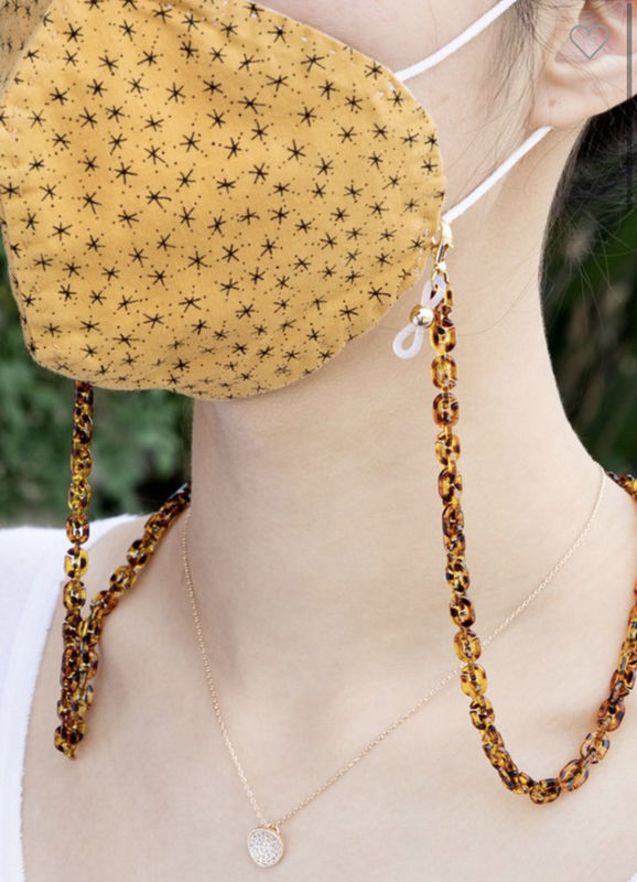 ACETATE FACE MASK CHAIN - product images  of