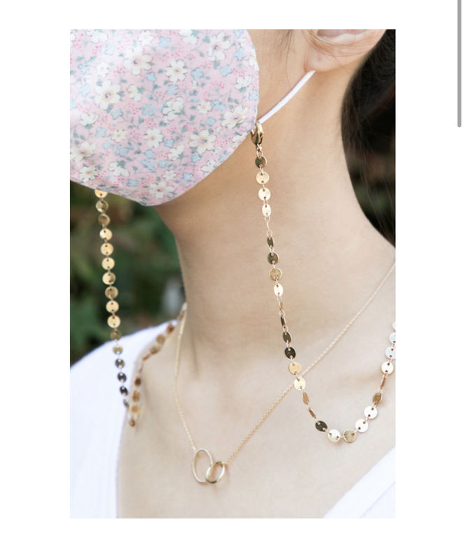 Disc chain face mask holder and necklace - product images  of