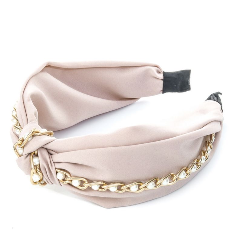 MAY pearl and gold chain headband - product images  of