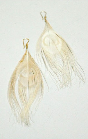BLONDIE-,peacock,feather,earrings,Jewelry,Earrings,earring,feather_earrings,blue,silver,summer_fashion,bride,wedding,gold,white,pluma,chain