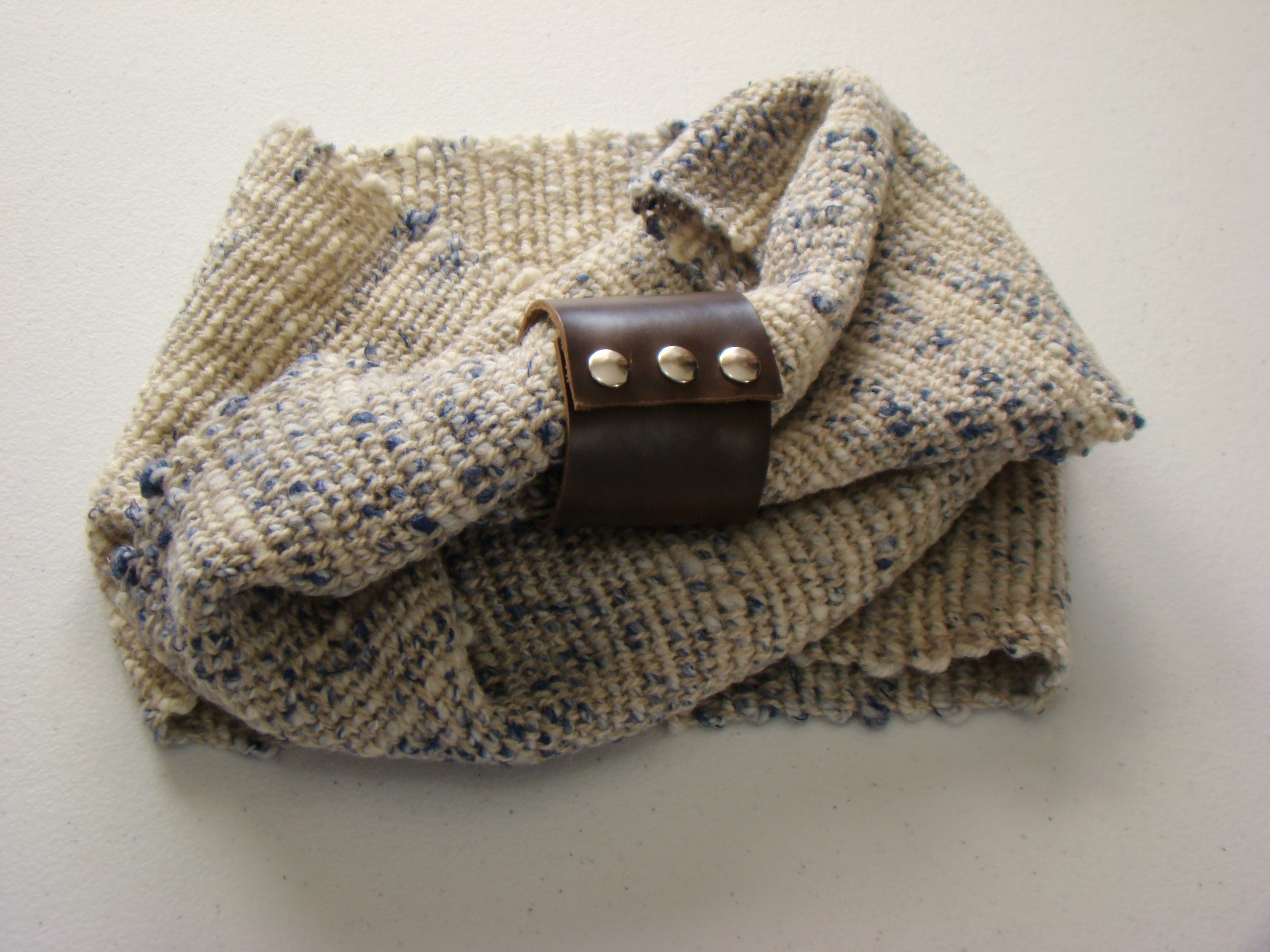 Handwoven Blueberry Cheesecake Scarf