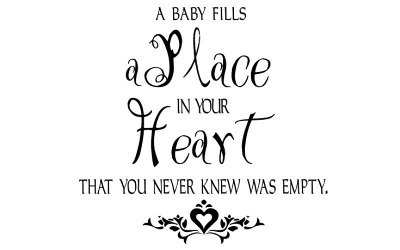 A BABY FILLS A PLACE IN YOUR HEART THAT YOU NEVER KNEW WAS EMPTY - product images  of