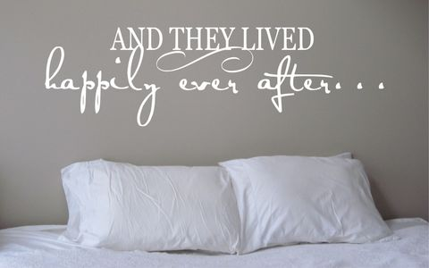 AND,THEY,LIVED,HAPPILY,EVER,AFTER...,home, wall art, decor, family, vinyl, design, fun, love, stickyedge, stickyedge.co.uk, always, forever