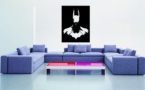BATMAN,home, wall art, decor, family, vinyl, design, fun, love, stickyedge, stickyedge.co.uk, BATMAN, DC, COMIC