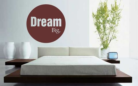 DREAM,BIG,home, wall art, decor, family, vinyl, design, fun, love, stickyedge, stickyedge.co.uk, always, forever