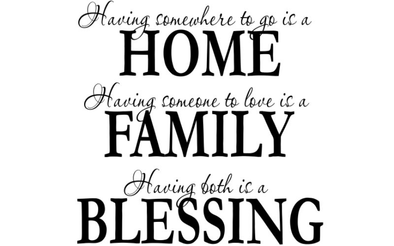 HAVING SOMEWHERE TO GO IS A HOME HAVING SOMEONE TO LOVE IS A FAMILY HAVING BOTH IS A BLESSING - product images  of