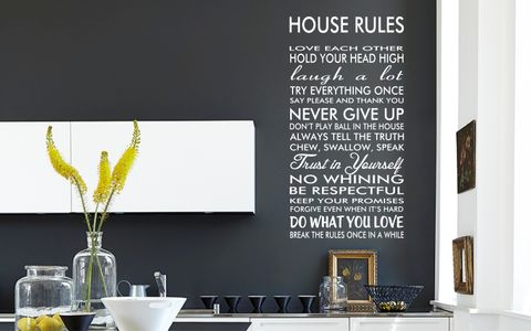 HOUSE,RULES,home, wall art, decor, family, vinyl, design, fun, love, stickyedge, stickyedge.co.uk, always, forever, LAUGH, TRY, PLEASE, NEVER GIVE UP, TRUTH, TRUST, RESPECTFUL, PROMISE, BRAK THE RULES