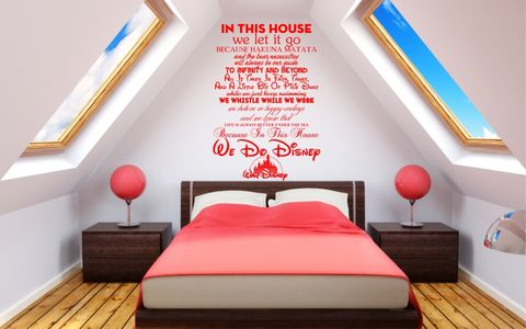 WE,DO,DISNEY,home, wall art, decor, family, vinyl, design, fun, love, stickyedge, stickyedge.co.uk, DISNEY, HOUSE