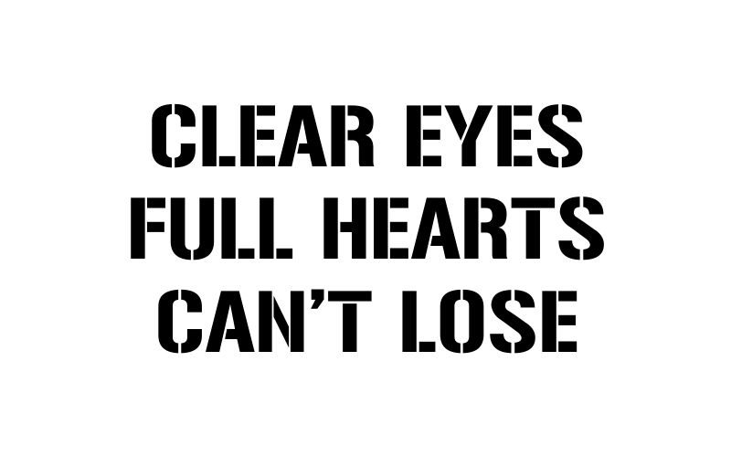 CLEAR EYES FULL HEARTS CAN'T LOSE | Friday Night Lights - product images  of
