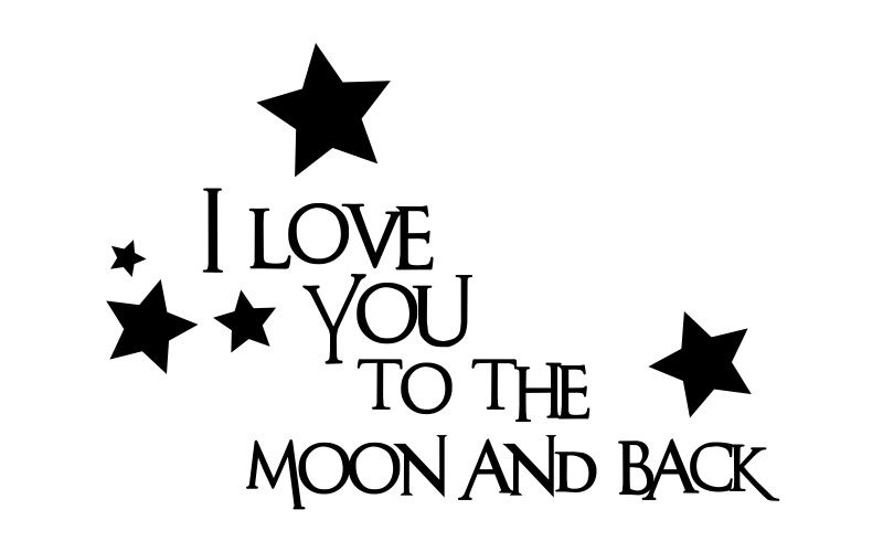 I LOVE YOU TO THE MOON AND BACK - product images  of