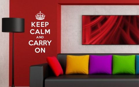 KEEP,CALM,AND,CARRY,ON,home, wall art, decor, family, vinyl, design, fun, love, stickyedge, stickyedge.co.uk, KEEP CALM, CARRY ON, BRITISH, UK