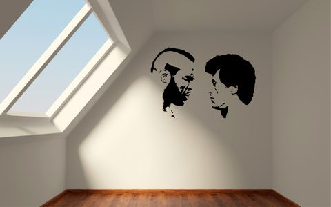 ROCKY,v,MR.T,(ROCKY,III),home, wall art, decor, family, vinyl, design, fun, love, stickyedge, stickyedge.co.uk, ROCKY, ROCKY BALBOA, CREED, SylvesterStallone, MR.T, Carl Weathers, Burgess Meredith, Talia Shire, Burt Young, CLUBBER LANG, ROCKY 3, ROCKY III,