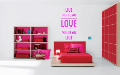 LIVE,THE,LIFE,YOU,LOVE...LOVE,home, wall art, decor, family, vinyl, design, fun, love, stickyedge, stickyedge.co.uk, LIVE, LIFE, YOU LOVE, LOVE, LIFE YOU LIVE,