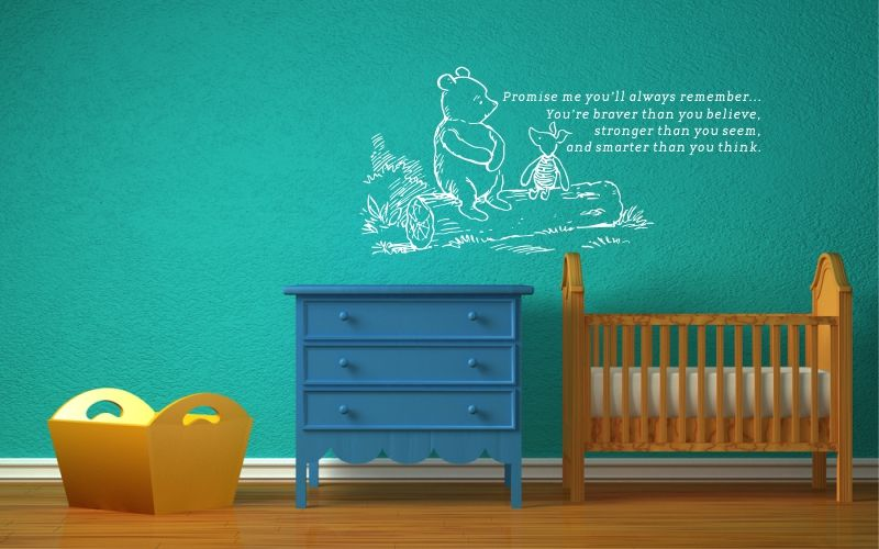 WINNIE THE POOH | PROMISE ME YOU'LL ALWAYS REMEMBER...YOU'RE BRAVER THAN YOU BELIEVE, STRONGER THAN YOU SEEM, AND SMARTER THAN YOU THINK. - product images  of