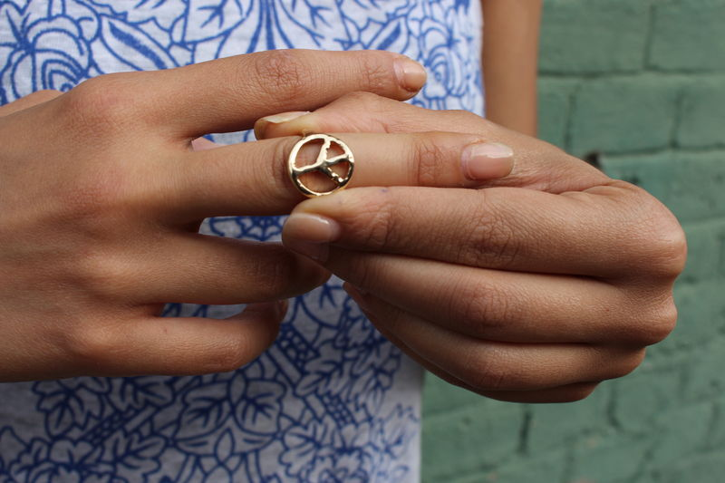 Circle of Peace Gold Ring - product images  of