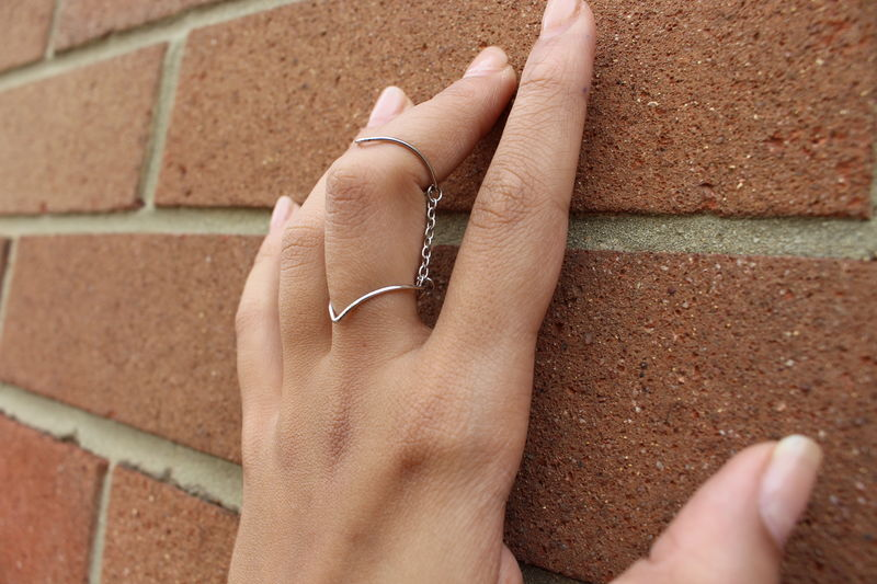 Double V - Finger Ring - product images  of