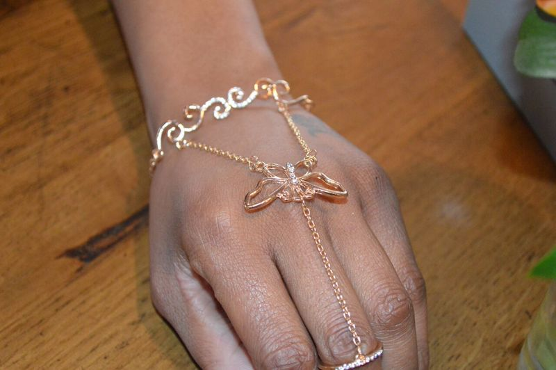 Soar High Hand Chain Bracelet - product images  of