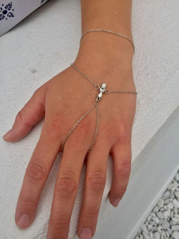 Sparkle On Silver Hand Chain - product images  of