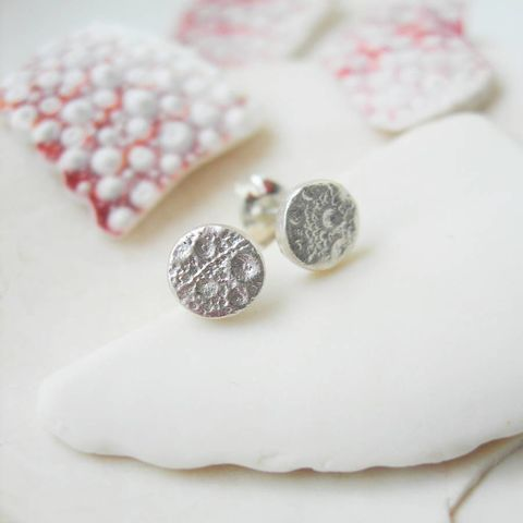 Sea,Urchin,Silver,Stud,Earrings,hazey designs, sea urchin, silver studs, handmade jewellery