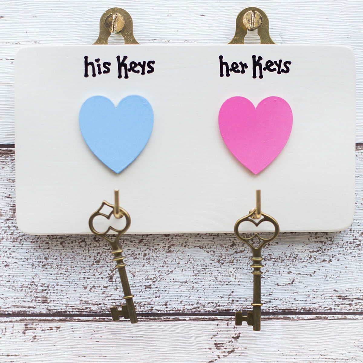 Personalised His/Her Key Hook Hanger - product images  of