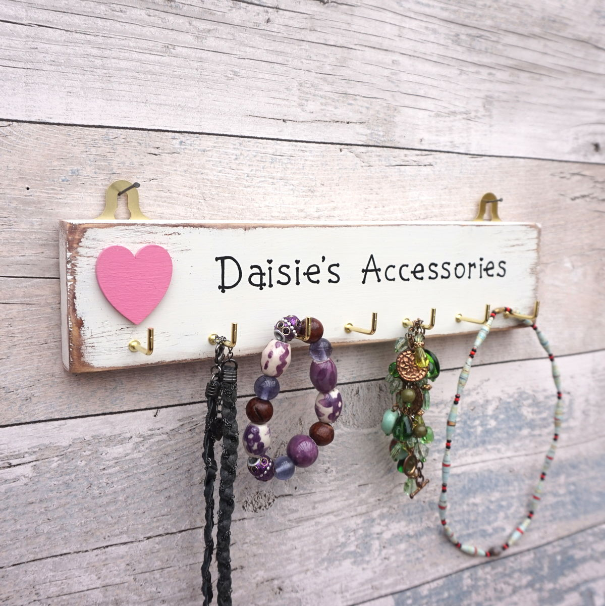 Personalised Accessories and jewellery hanger - product image