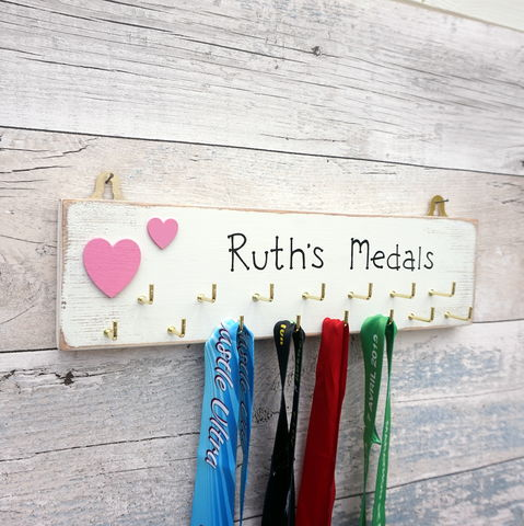 Personalised,Medal,Hanger,running medal hanger - medal rack - medal holder - running medal display - race medal holder - marathon medals - running - runners - medals - swimming - gift for dads - gift for mums - gift for grandparents - gifts for runners who have everything - gifts