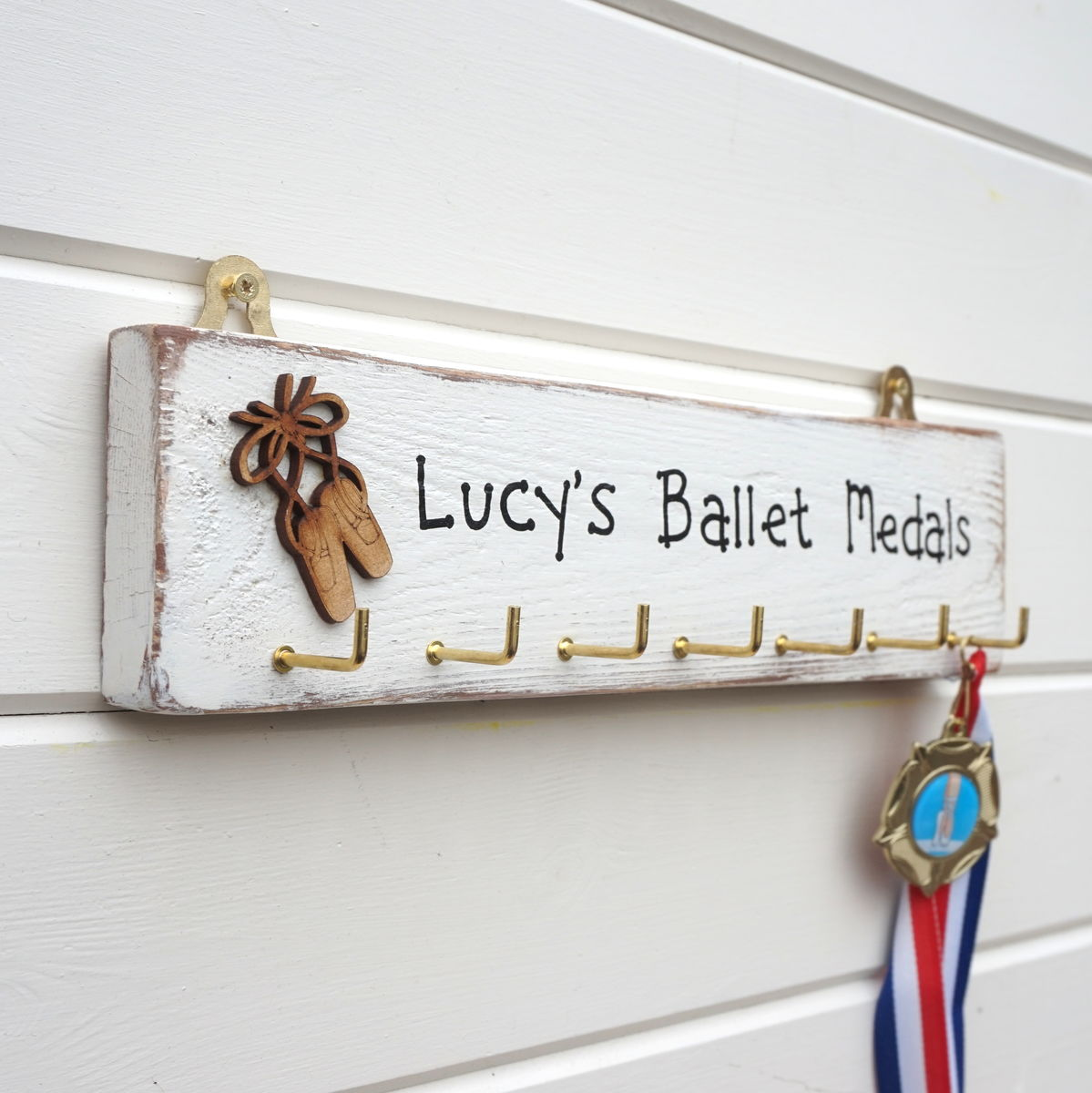Personalised Ballet Medal Hanger - product image