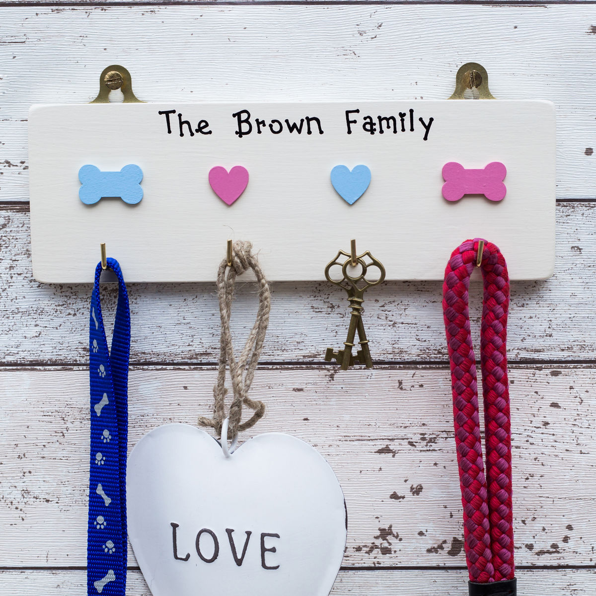 Personalised Key and Dog Lead Hanger - product image