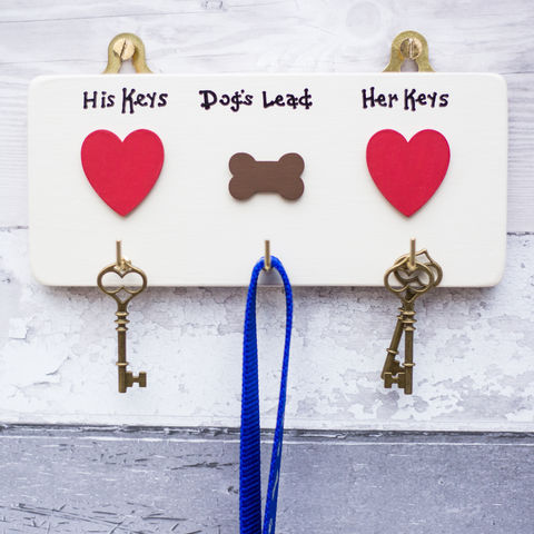 Personalised,House,Keys,and,Dog,Lead,Hanger,gift for dog owner - pet gift - housewarming gift - new puppy gift - pets - key hooks - personalised gift -  dogs - anniversary - key hanger - lead hanger - retirement gift - dog lovers - dog lover - dog owner