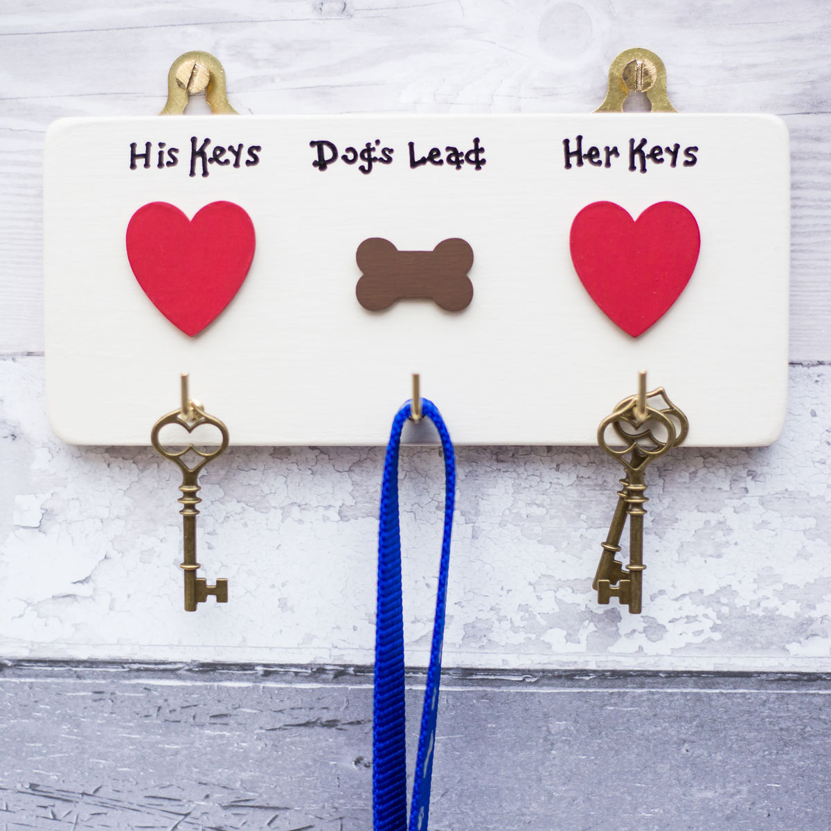 Personalised House Keys and Dog Lead Hanger - product image