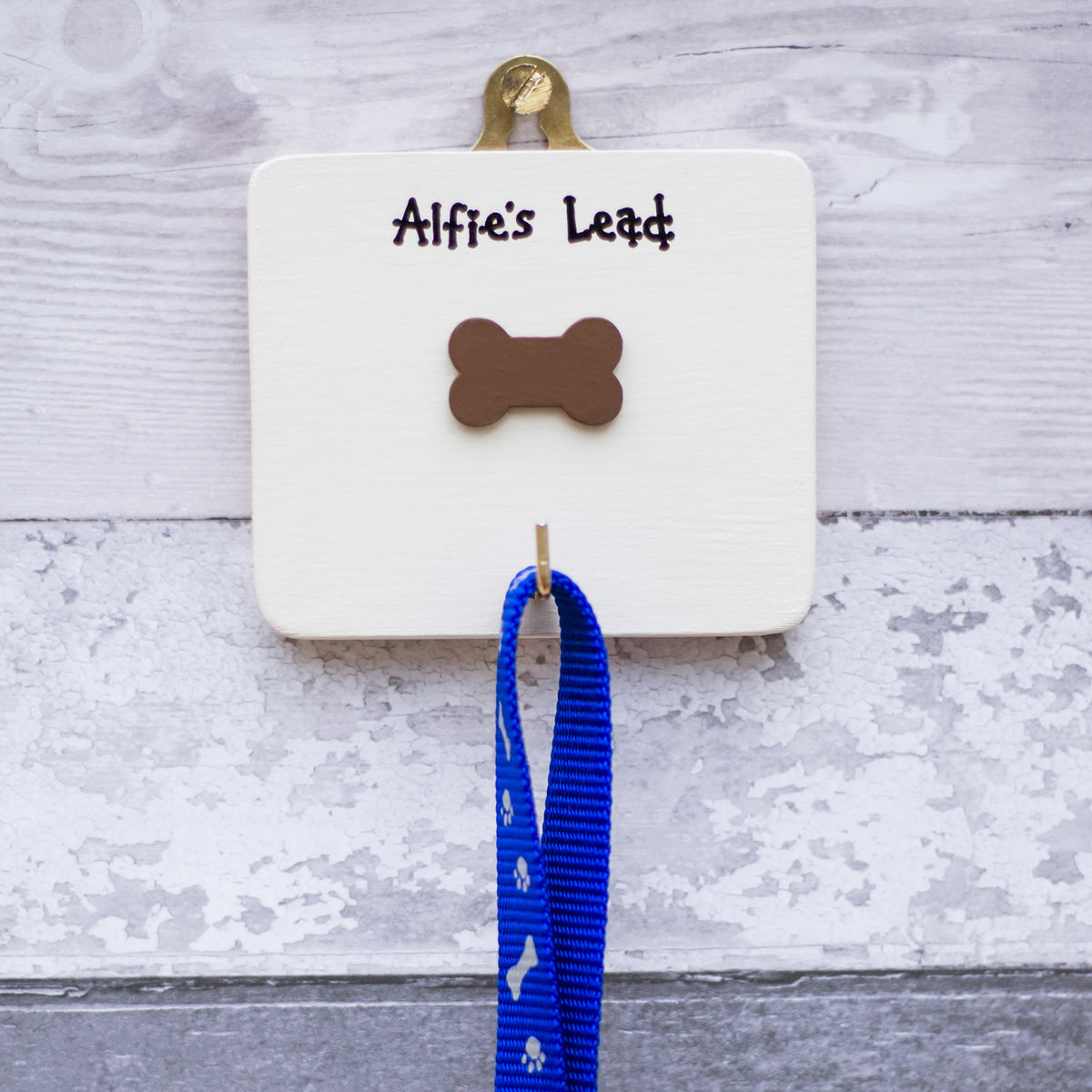 Personalised dog lead hanger - product image
