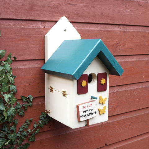 Personalised,Forest,Lodge,Bird,House,birdhouses, bird house, bird
