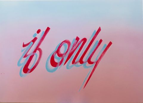 If,Only,Spray paint, canvas, SOFLY, so fly, graffiti art, spray can art, lettering art,