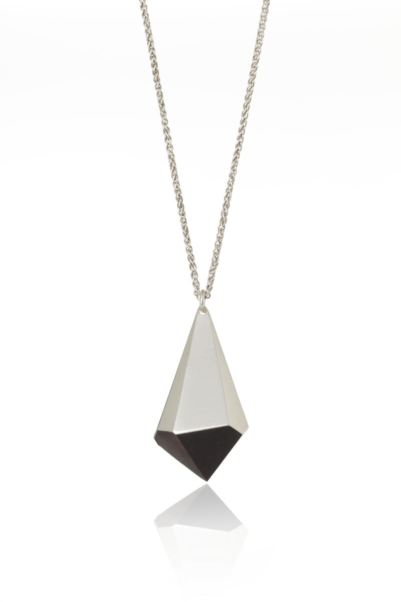 Blackwood and silver pendant - to order only - product image