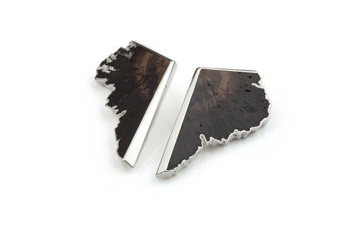 Oak,and,silver,earrings,-,to,order,only,Wood earrings, butterfly earrings, silver and wood earrings, oak and silver