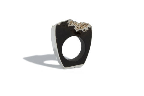 Bog,oak,and,silver,ring,-,made,to,order,only,Bog oak ring, silver and bog oak, wooden ring, bling ring, organic ring