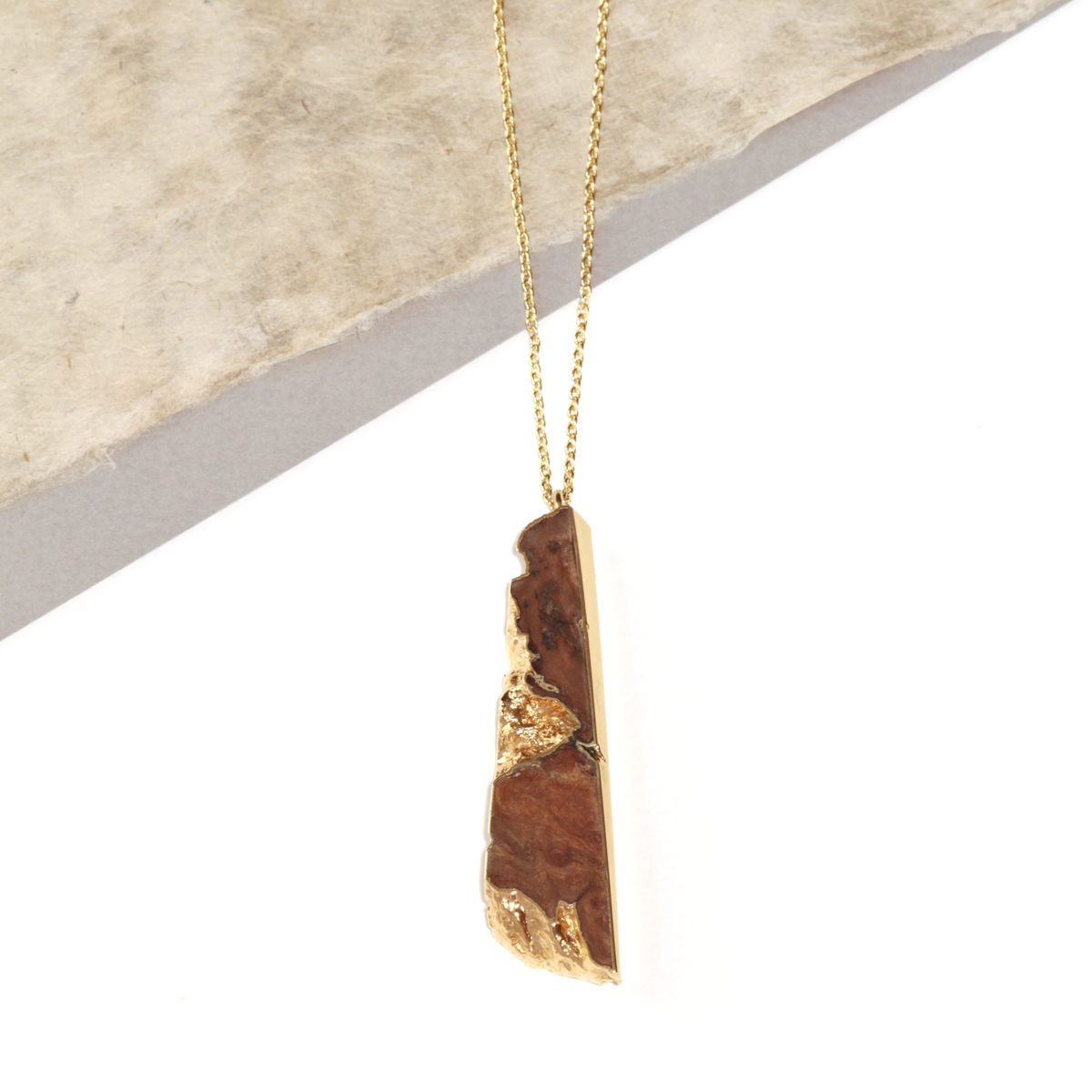 Old English Oak and 22ct yellow gold pendant- to order only - product images  of
