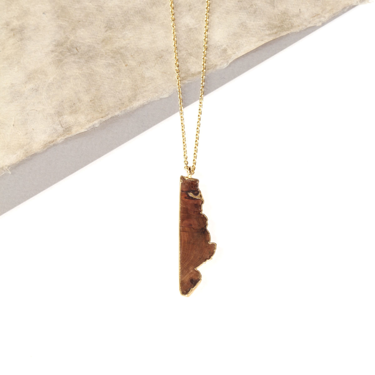 Old English Oak pendant finished in 22ct yellow gold- To Order Only - product images  of