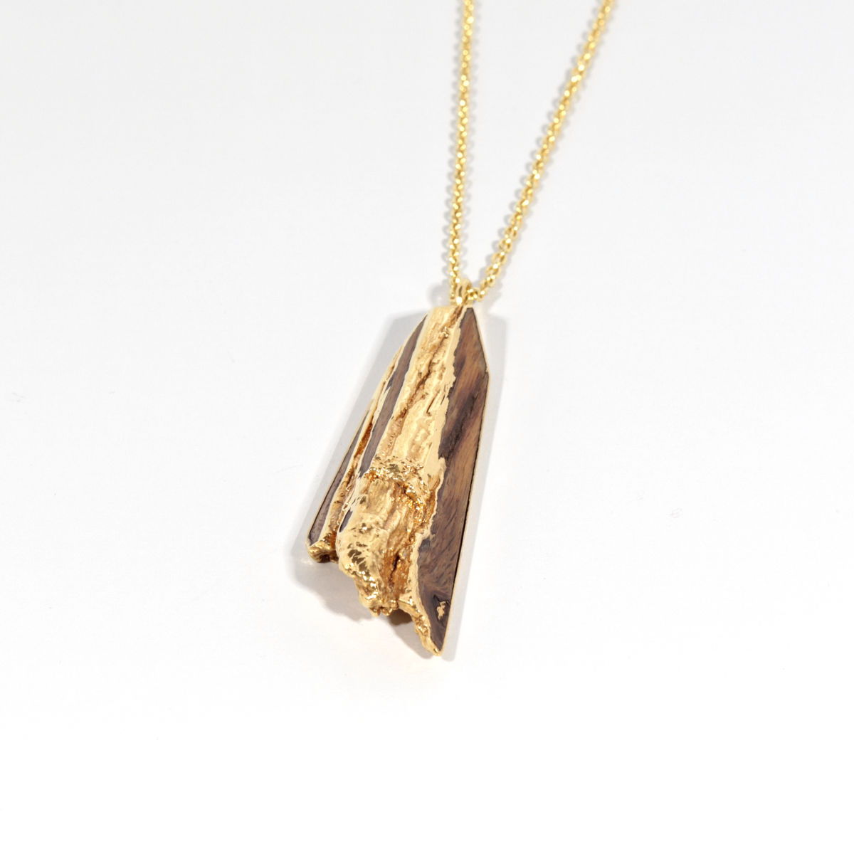 Old english oak pendant finished in 22ct yellow gold diane turner old english oak pendant finished in 22ct yellow gold product images of mozeypictures Gallery