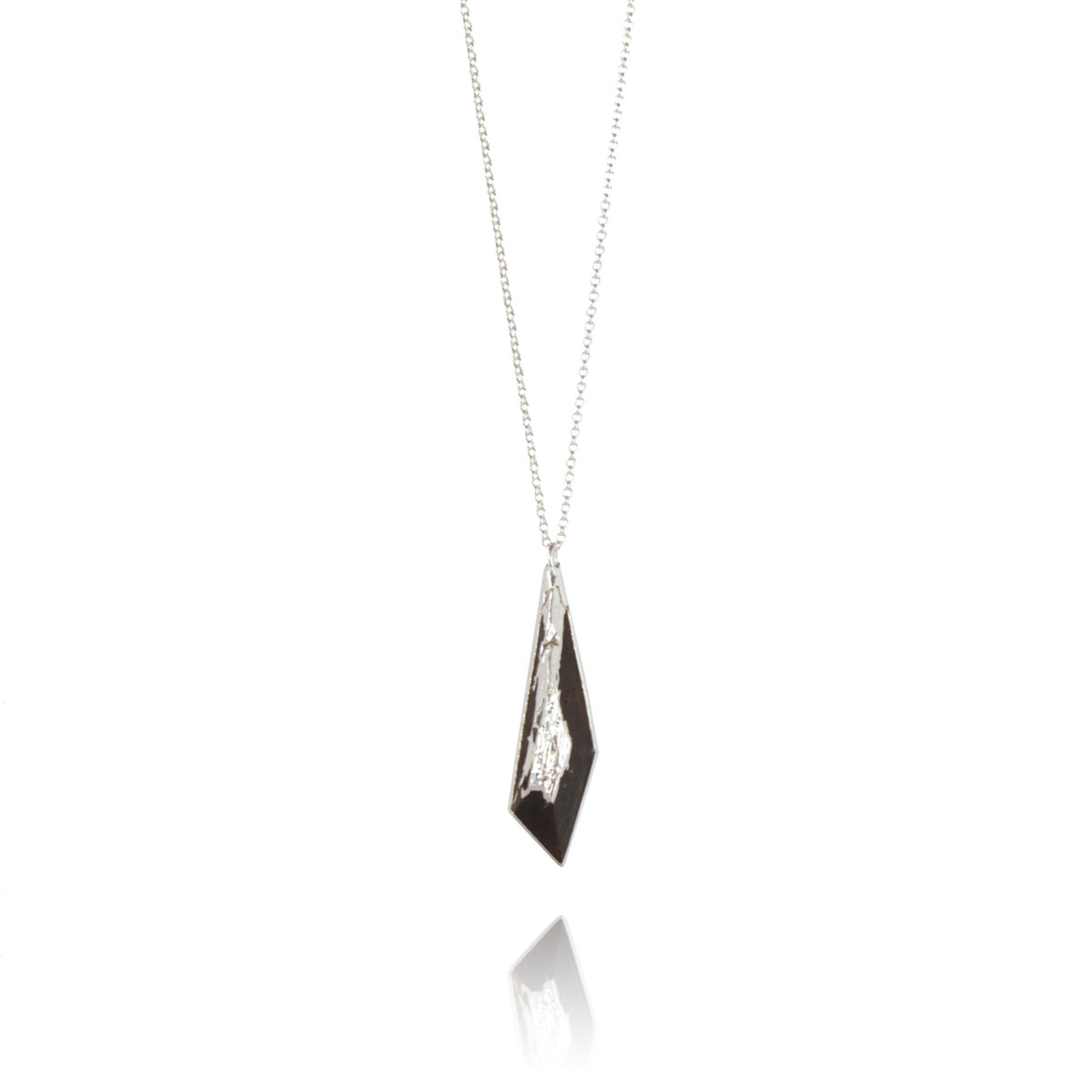 Bog oak pendant finished in silver- To Order Only - product images  of