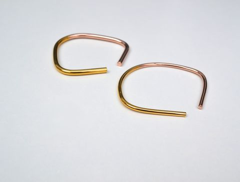 Vice,Bangle, yellow gold, rose gold, brass, simple, geometric, elegant, minimalist, cuff, silver, sterling silver