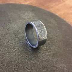 Wedding band. Heavy, Textured and Oxidised.  - product images 2 of 3