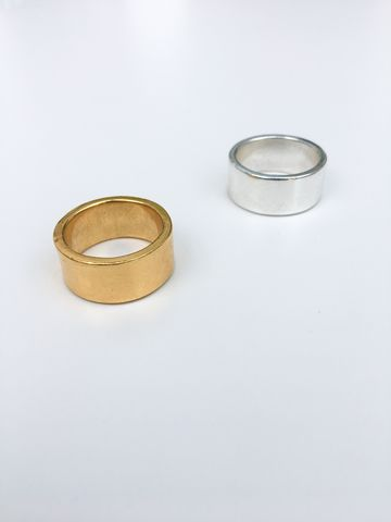 JB,Ring,silver, gold, gold plated, sterling silver, polished, textured, chunky ring, solid silver, cast, wide band