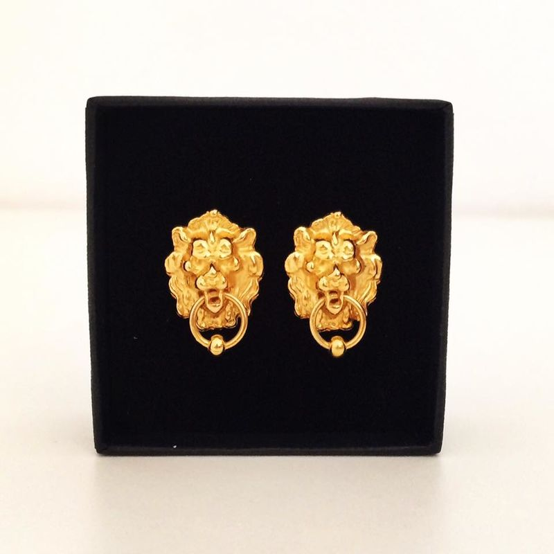Lion door knocker Earrings - product image