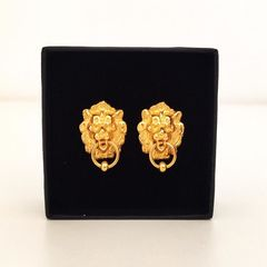 Lion door knocker Earrings - product images 1 of 3