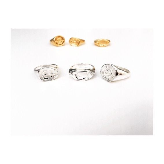Navigate Signet Rings - Silver & Gold - product image